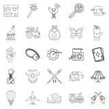 Babyhood icons set, outline style. Babyhood icons set. Outline set of 25 babyhood vector icons for web isolated on white background Stock Photography