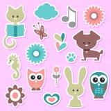 Babyish cute stickers set stock illustration