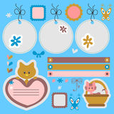 Babyish scrapbook elements stock illustration