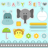 Babyish scrapbook elements vector illustration