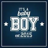 Babyjongen 2015 royalty-vrije illustratie