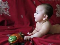 Babyjongen in Aziatisch binnenland Royalty-vrije Stock Afbeelding