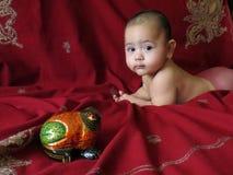 Babyjongen in Aziatisch binnenland Royalty-vrije Stock Fotografie