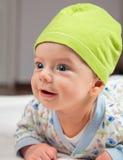 Babyjongen in buiktijd Royalty-vrije Stock Fotografie