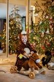 Babyjongen in Carnaval-kostuum Stock Afbeelding