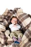 Babyjongen in de doos Royalty-vrije Stock Foto