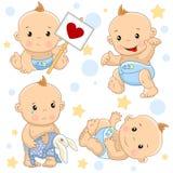 Babyjongen 2 deel stock illustratie