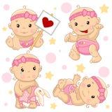 Babyjongen 2 deel royalty-vrije illustratie