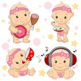 Babyjongen 3 deel stock illustratie