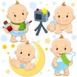 Babyjongen 12 deel vector illustratie