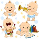 Babyjongen 15 deel stock illustratie