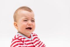 Babyjongen het schreeuwen Stock Foto's