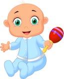 Babyjongen met muzikaal stuk speelgoed royalty-vrije illustratie