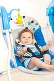 Babyjongen in schommeling Royalty-vrije Stock Afbeelding