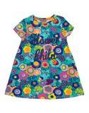 Babykleding met bloemenpatroon Stock Foto's