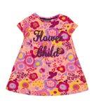 Babykleding met bloemenpatroon Stock Afbeeldingen