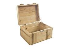 Babykleren op houten doos royalty-vrije stock afbeeldingen