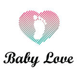 Babyliefde Logo Illustration Design stock illustratie