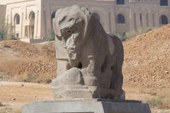 Babylon lion statue Stock Photos