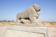 Babylon lion statue Stock Photo