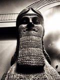 Babylonian Figure Nimrud Lamassu. British Museum Statue Winged Lions Gates of Royalty Free Stock Images
