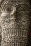 Babylonian statue head Royalty Free Stock Images