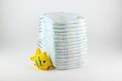 Babyluiers op een witte achtergrond Royalty-vrije Stock Foto