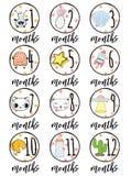 Babymaanden Stock Fotografie