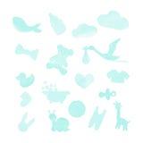 Babymaterial-Aquarellgestaltungselemente Lizenzfreies Stockbild