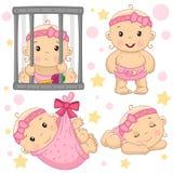 Babymeisje 8 deel vector illustratie