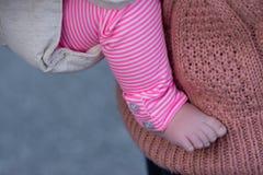 Babymeisje en mamma Royalty-vrije Stock Afbeelding