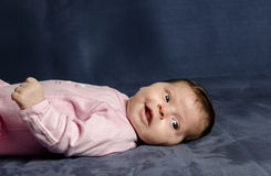 Babymeisje het glimlachen Royalty-vrije Stock Afbeelding