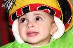 Babymeisje het schreeuwen Royalty-vrije Stock Foto