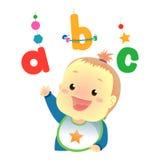 Babymeisje het Spelen met ABC Stock Foto's