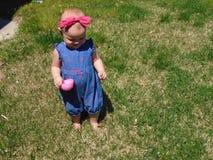 Babymeisje met Roze Hoofdband stock foto