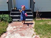 Babymeisje met Roze Hoofdband stock fotografie
