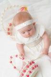 Babymeisje in Pasen Royalty-vrije Stock Afbeelding
