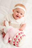 Babymeisje in Pasen Stock Foto's
