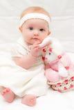 Babymeisje in Pasen Stock Afbeeldingen