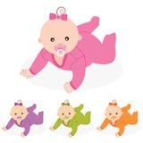 Babymeisje. Vectorillustratie. Stock Afbeelding