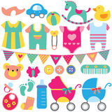 Babyobjecten de reeks van de klemkunst Royalty-vrije Stock Fotografie