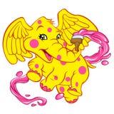 Babyolifant met borstel Royalty-vrije Stock Foto