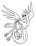 Babyparty vektor abbildung