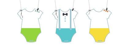 Babyparty-Einladung Fliegen- und Babysymbolbaby-Körpergruß lizenzfreie abbildung