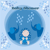 Babyparty-Einladungs-Karten-Illustration Lizenzfreie Stockfotografie