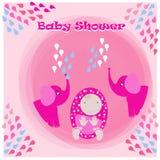 Babyparty-Einladungs-Karten-Illustration Lizenzfreie Stockbilder