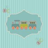 Babyparty - nette Karte für Mädchen Lizenzfreies Stockbild