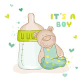 Babyparty-oder Baby-Ankunfts-Karten Lizenzfreies Stockfoto