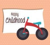 Babyparty und glückliches, Kindheit, Lizenzfreie Abbildung