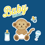 Babypartydesign Stockbilder